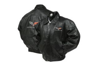 Corvette Lambskin Bomber Jacket w/C6 Embroidered Emblem