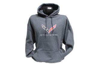 C7 Corvette Stingray Hooded Sweatshirt (Apparel Color_Apparel Sizes)
