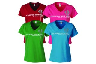 Ladies Corvette Stingray Triple Mark V-Neck (Apparel Color_Apparel Sizes)