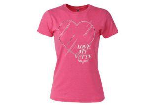 Ladies Love My Vette Pink Tee (Apparel Sizes)