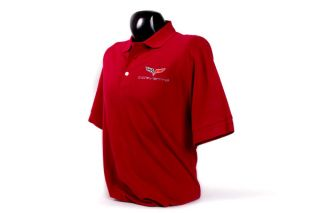 Men's C6 Corvette Cutter & Buck Tournament Polo Shirt