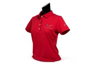 C7 Corvette Emblem Ladies Nike Dri-Fit Polo
