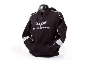 C6 Corvette Quarter Zip Hooded Sweatshirt