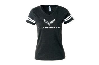 Ladies C7 Corvette Football Jersey Tee