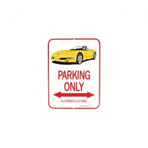 1997-2004 Corvette Yellow Convertible Parking Sign