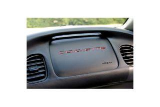 """1997-2004 Corvette RH Side """"Corvette"""" Dash Decal"""