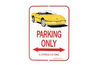 1984-1996 Corvette Yellow Convertible Parking Sign