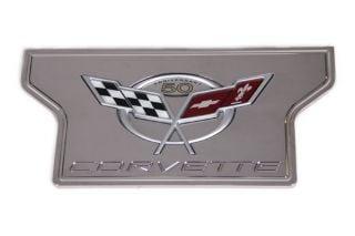 97-04 Billet Exhaust Plate w/50th Emblem