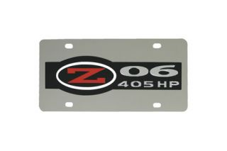 Z06 Corvette Stainless Steel License Plate