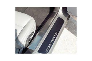 2005-2013 Corvette Stainless Inner Door Threshold Covers