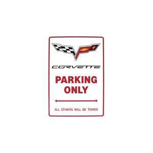 """C6 Corvette Emblem Parking Sign (9""""X 12"""")"""