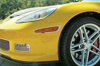 2006-2013 Corvette Z06/GS Stainless Turn Signal Light Bezels