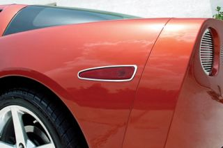 2005-2013 Corvette Stainless Turn Signal Light Bezels