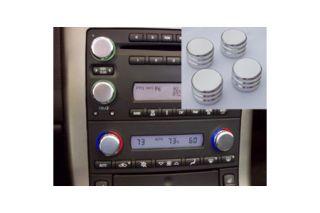 2005-2007 Corvette w/o Nav Polished Aluminum Dash Knobs
