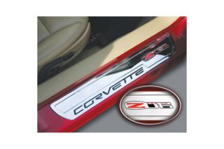 2006-2013 Corvette Billet Sill Plates w/Z06 505hp Emblem