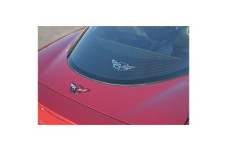 1997-2004 Corvette Rear Cargo Shade w/Embroidered Emblem