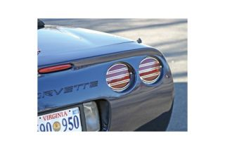 1997-2004 Corvette 4pc Polished Stainless Slotted Tail Light Grills