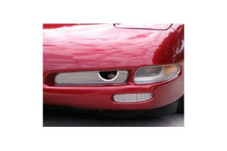 1997-2004 Corvette 2pc Perforated Stainless Front Brake Vent Grilles