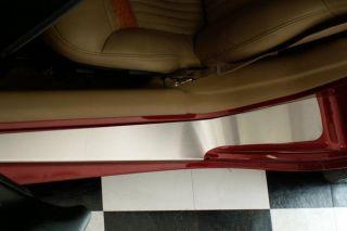 1997-2004 Corvette Stainless Door Sills w/o Ribs