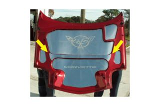 1997-2004 Corvette Polished Stainless Hood Center Brace Cover