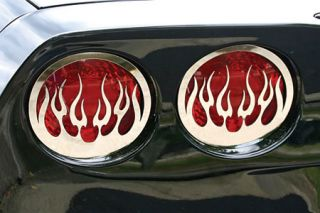 2005-2013 Corvette Flamed Stainless Tail Light Grill Set