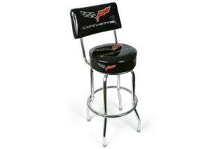 C6 Corvette Counter Stool w/Backrest