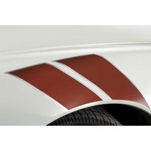 2005-2013 Corvette Red Metallic Fender Stripes