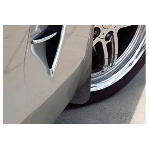 """2005-2013 Corvette Front Stainless """"Z06 Style"""" Mud Guards"""