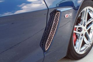 2006-2013 Corvette Z06 Laser Mesh Stainless Side Fender Grills