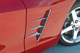 2005-2013 Corvette Laser Mesh Stainless Side Spears w/Fender Grills