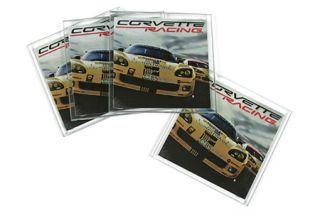 Corvette Racing Glass Coaster Set