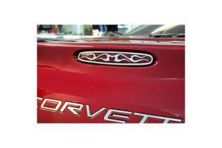 1997-2004 Corvette Flamed Stainless 5th Brake Light Grill