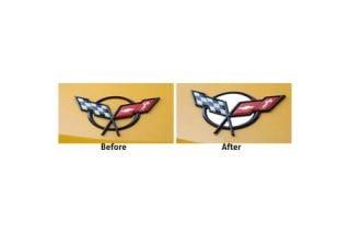 1997-2004 Corvette Polished Stainless 8pc Emblem Inserts