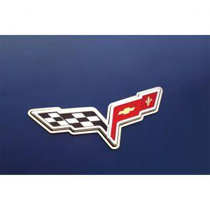 2005-2013 Corvette Polished Stainless 2pc Emblem Rings