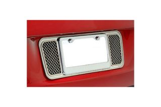 2005-2013 Corvette Laser Mesh Stainless Rear License Plate Backplate