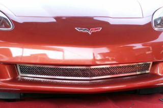 2005-2013 Corvette Laser Mesh Stainless Front Grill