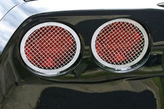 2005-2013 Corvette Laser Mesh Stainless Tail Light Grills (4pc)