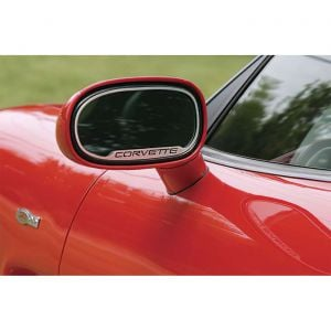 "1997-2004 Corvette Exterior Mirror Stainless Trim w/""Corvette"""