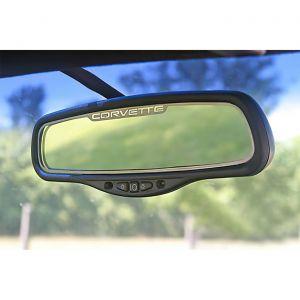"1997-2004 Corvette Inside Mirror Stainless Trim w/""Corvette"" (auto-dim mirror)"