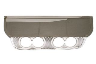 "2005-2013 Corvette Laser Mesh Stainless Exhaust Port Filler Panel - B&B Rt. 66 4"" Quad Round Tips"