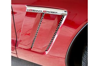 2010-2013 Corvette Grand Sport 6-pc Laser Mesh Side Fender Inserts