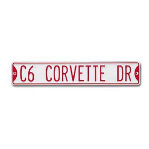 """""""C6 CORVETTE DR"""" Street Sign"""