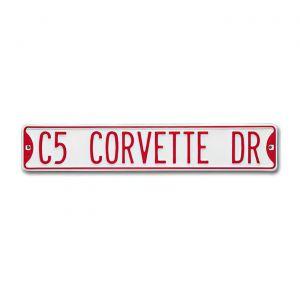"""""""C5 CORVETTE DR"""" Street Sign"""