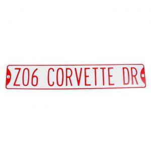 """""""Z06 CORVETTE DR"""" Street Sign"""
