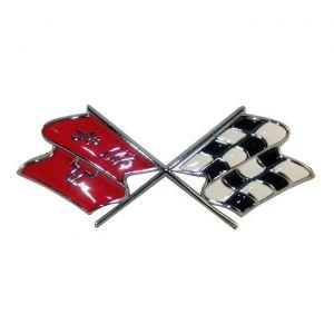 1968-1972 Corvette Nose Emblem Metal Sign