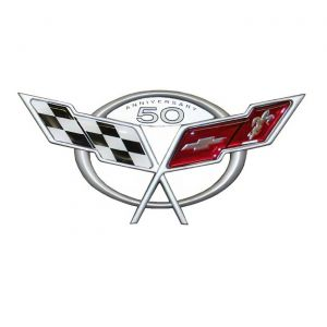 50th Anniversary Corvette Emblem Metal Sign