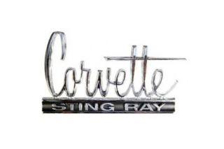 66 Corvette Sting Ray Metal Sign