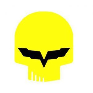 Corvette Jake Yellow Metal Sign