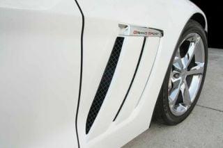 2010-2013 Corvette GS Blakk Stealth Laser Mesh Side Vent Grills - 6pc