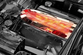"""97-04 Perforated Stainless """"Illuminumated"""" Intake Plenum Cover"""